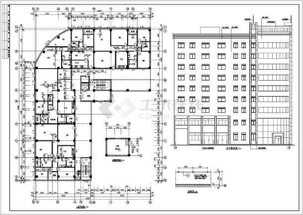 荣苑高层住宅建筑设计cad施工图-图3