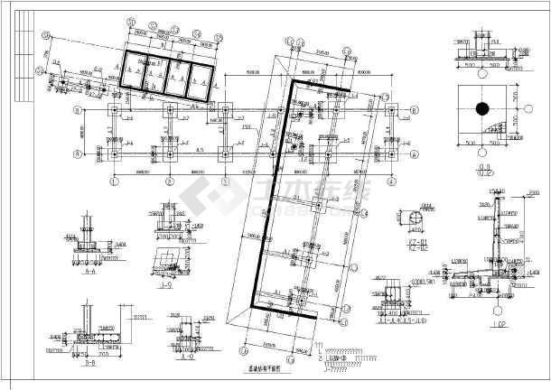 整套二层钢结构别墅的结构设计完整的cad施工设计图-图1