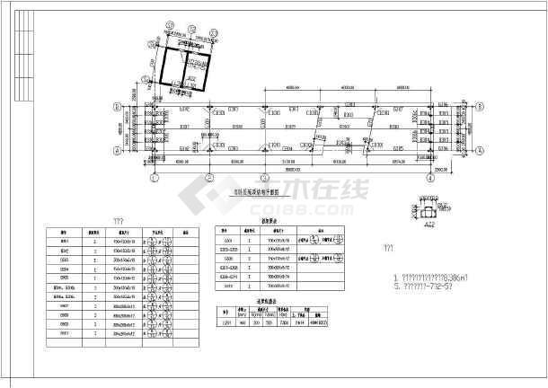 整套二层钢结构别墅的结构设计完整的cad施工设计图-图2