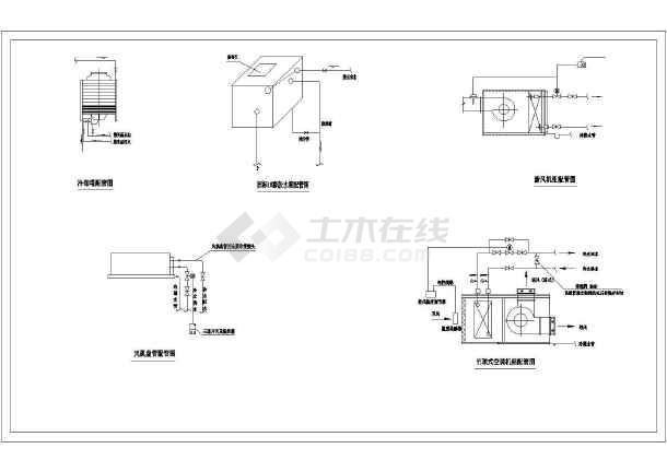 八层综合商务大楼楼空调系统cad施工图-图1