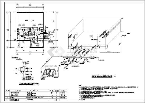 某地制衣厂厂房给排水设计施工图纸-图3