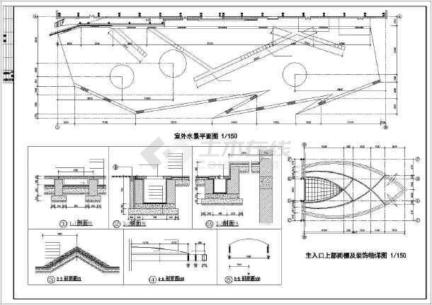 体育会所建筑施工全套方案cad设计图纸-图1