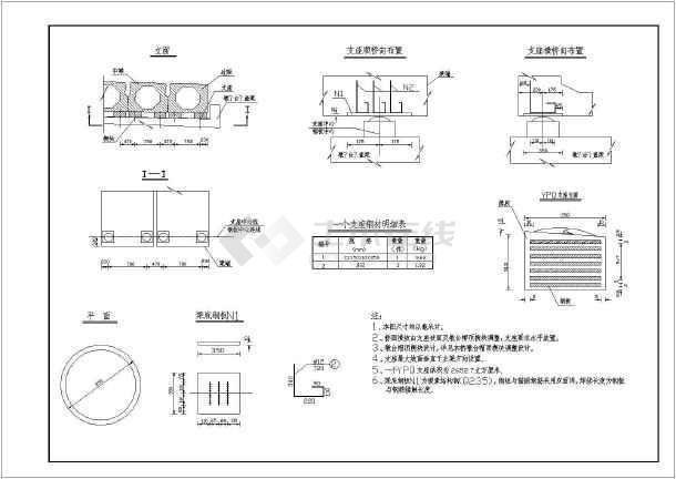 桥梁支座布置及构造全套CAD设计图纸-图3