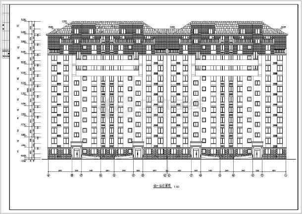 12层小高层住宅楼建筑设计CAD施工图带效果图-图1