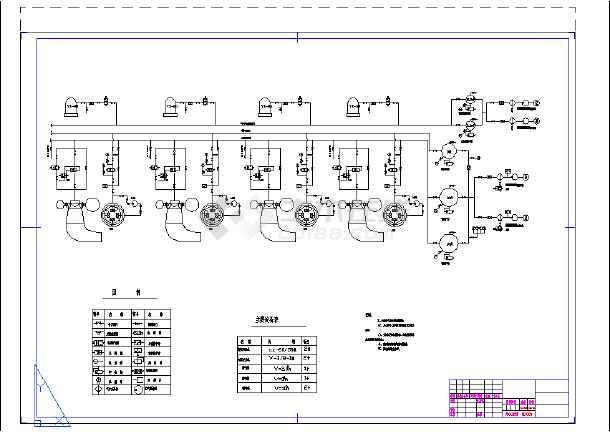 水电站水系统及剖面详细cad设计施工图-图2