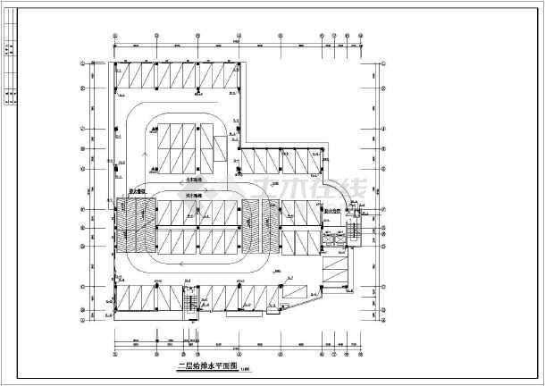 七层停车库房给排水及消防设计施工图-图1