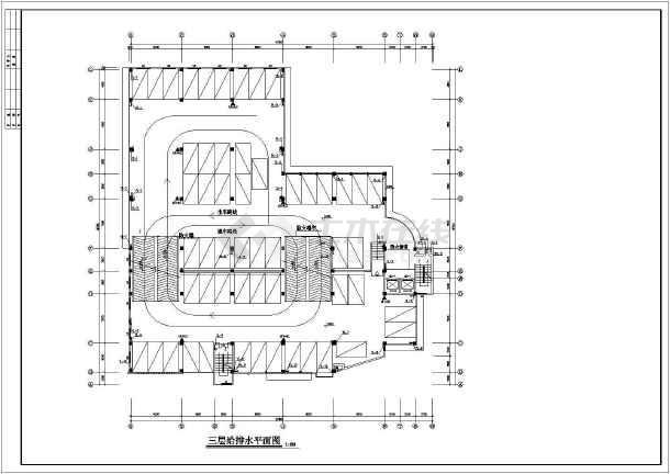 七层停车库房给排水及消防设计施工图-图2