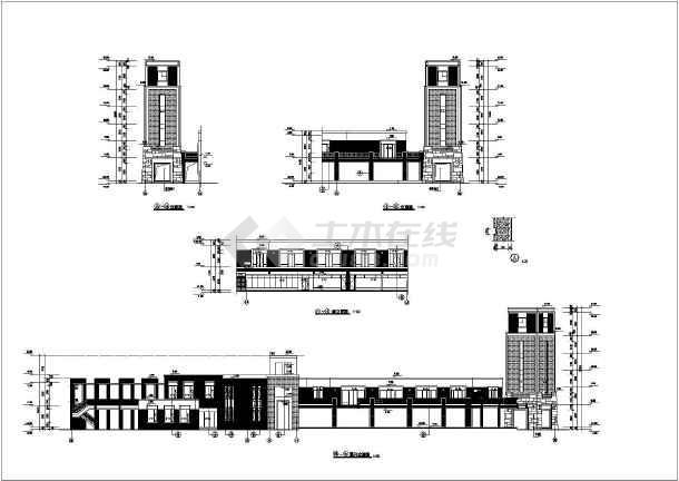 万科某经典会所设计全套cad方案图纸-图1