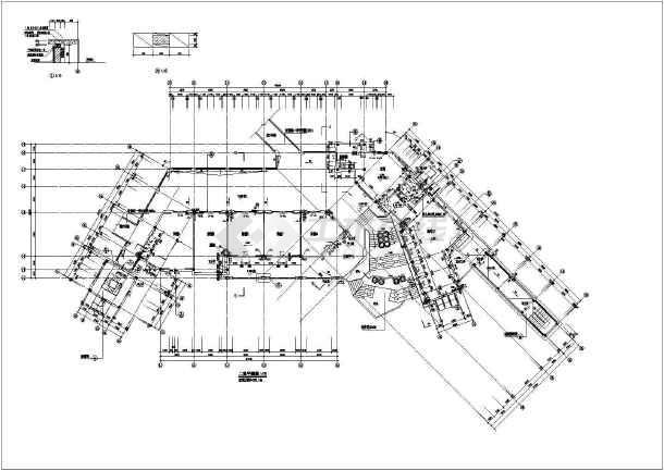 万科某经典会所设计全套cad方案图纸-图2