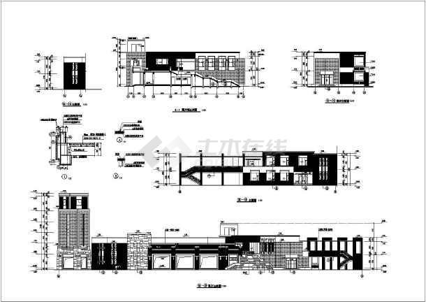 万科某经典会所设计全套cad方案图纸-图3