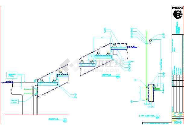 某酒店详细玻璃楼梯建筑CAD设计图-图1