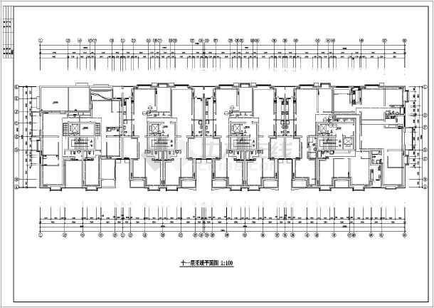 某高层办公楼建筑采暖系统cad施工图-图1