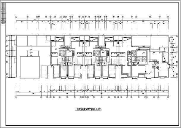 某高层办公楼建筑采暖系统cad施工图-图2