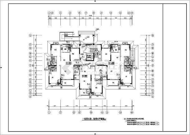 某小区普通高层住宅给排水设计施工图-图2