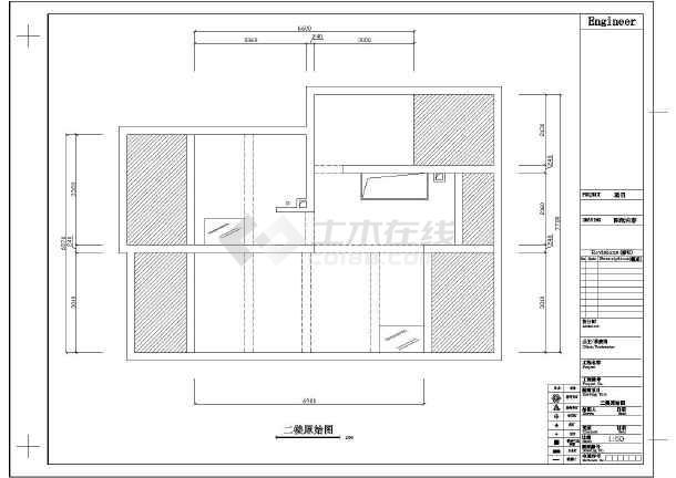 经典两居家居室内装修cad平面施工设计图纸-图2