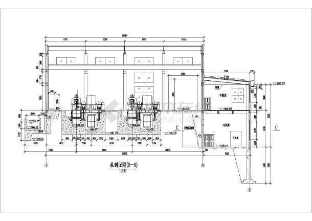 四川某小水电站厂房cad设计图纸-图2