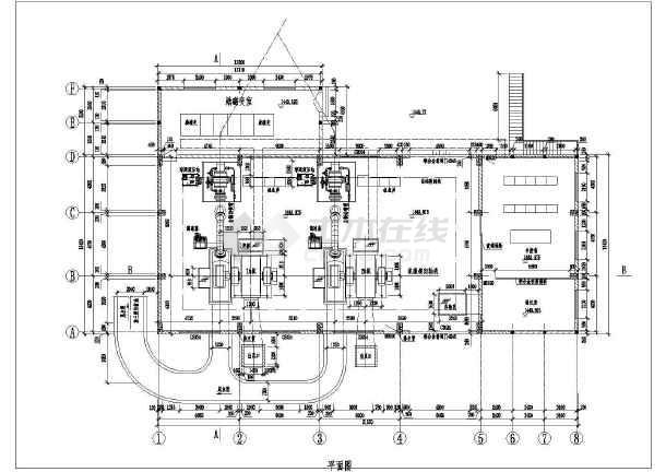 四川某小水电站厂房cad设计图纸-图3