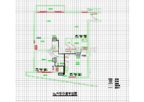 某住宅家用中央空调系统cad施工设计图纸-图1