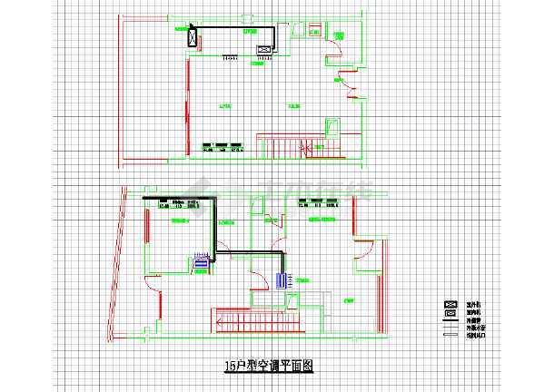 某住宅家用中央空调系统cad施工设计图纸-图2