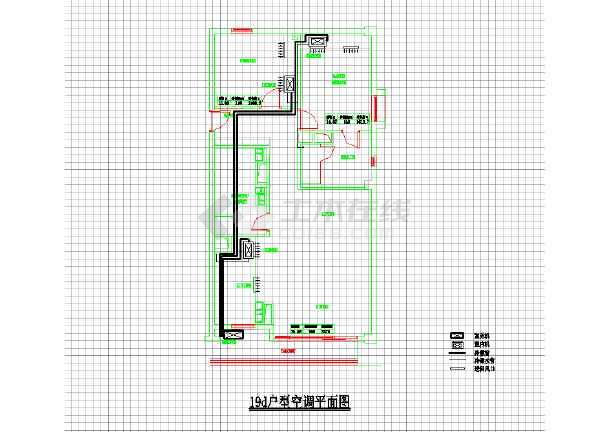 某住宅家用中央空调系统cad施工设计图纸-图3