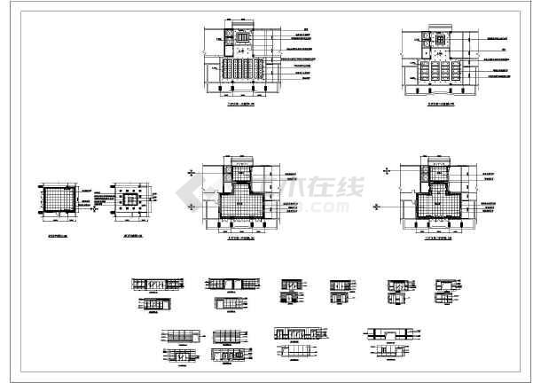 某住宅楼一层门厅装修cad平面方案施工设计图-图1