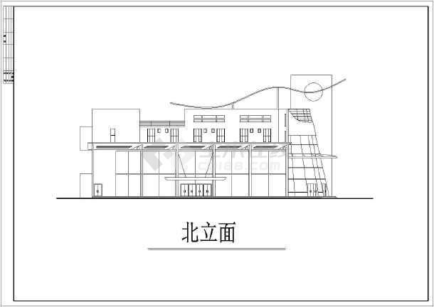 某地区大型很现代的会所建筑施工设计图-图1