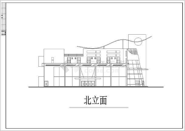 某地区大型很现代的会所建筑施工设计图-图2