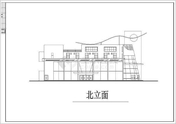 某地区大型很现代的会所建筑施工设计图-图3