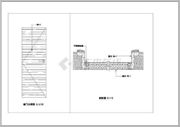 联排别墅室内精装修cad设计施工大样图-图1