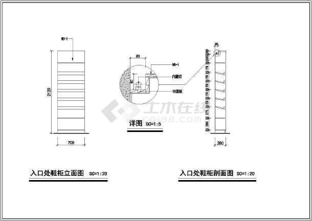 联排别墅室内精装修cad设计施工大样图-图2