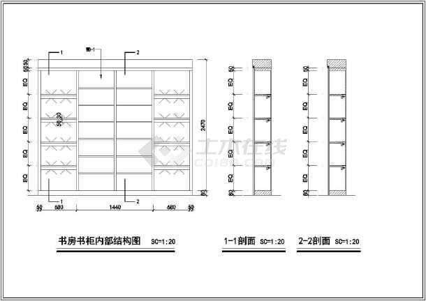 联排别墅室内精装修cad设计施工大样图-图3