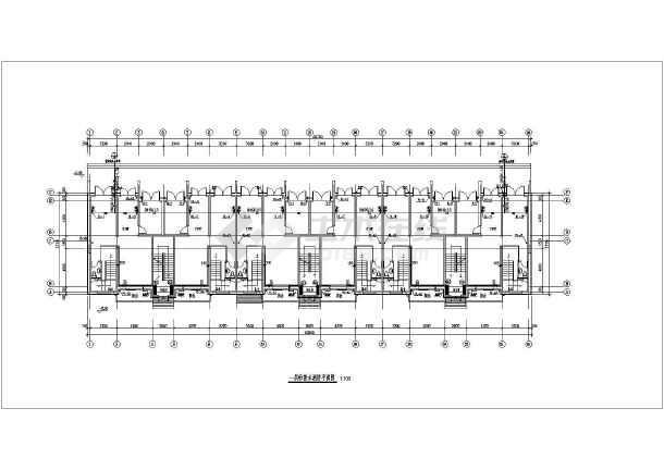多层住宅楼给排水及消防设计施工图-图1