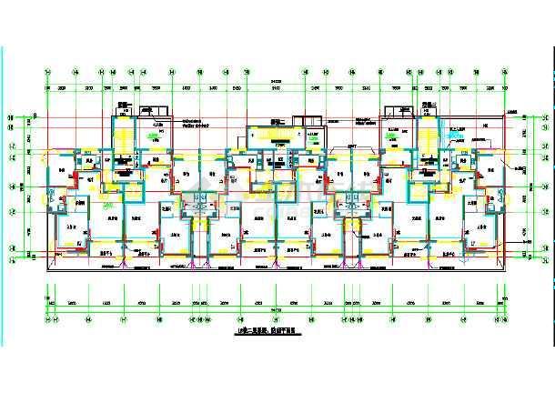 某商住大楼及地下车库采暖通风系统cad施工图纸-图3
