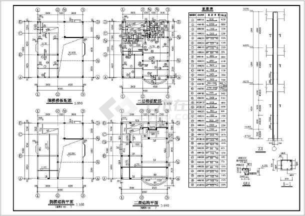 秀山花园高层住宅楼建筑设计cad施工图-图2