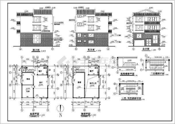 秀山花园高层住宅楼建筑设计cad施工图-图3