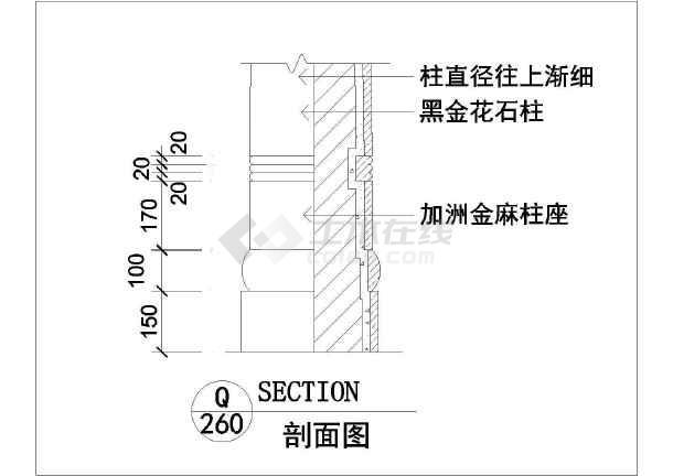 建筑室内装修装饰cad常用节点施工图-图1