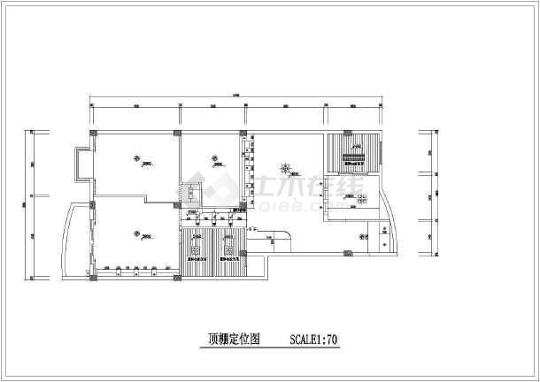精装修两居家装cad设计施工平面图-图3