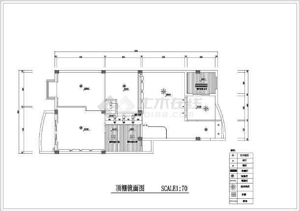 精装修两居家装cad设计施工平面图-图2