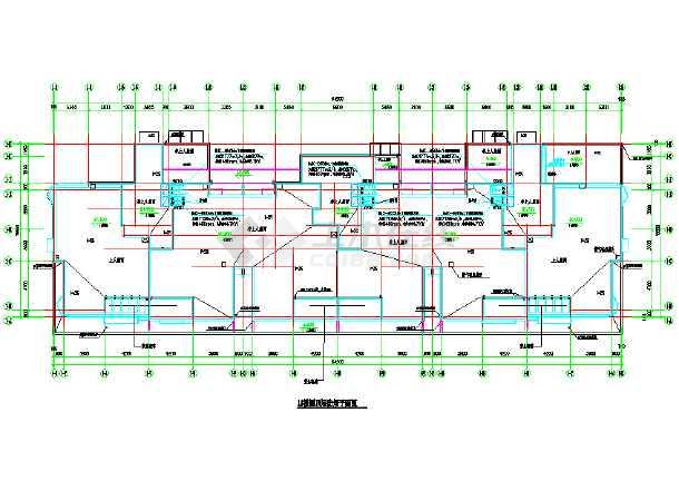 某商住大楼及地下车库采暖通风系统cad施工图纸-图1