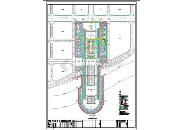 某市渡江战役纪念馆规划与建筑设计工程图纸-图3