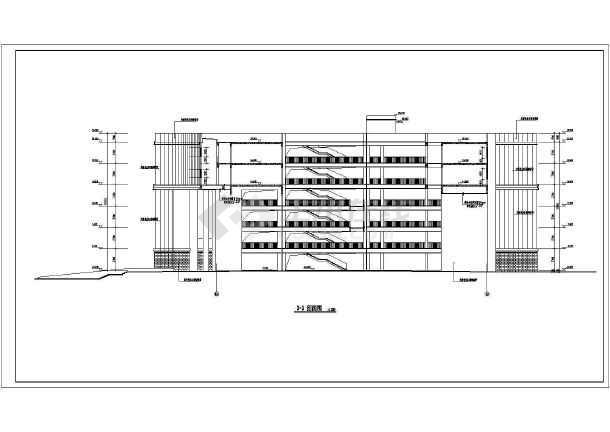 某地职业技术学院建筑设计施工图纸-图3