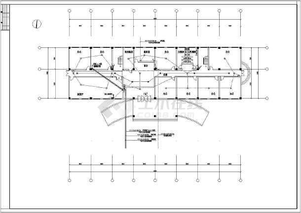 某地小型办公楼电气cad设计图 (标注详细)-图1