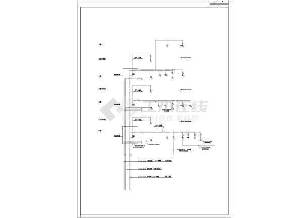 某地小型办公楼电气cad设计图 (标注详细)-图3