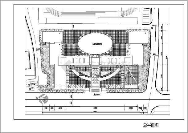 某学校校区规划设计方案图纸(节点详细)-图1