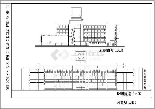 某学校校区规划设计方案图纸(节点详细)-图3