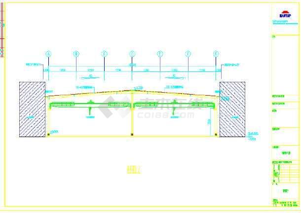 某地大型钢结构厂房CAD图(含设计说明)-图1