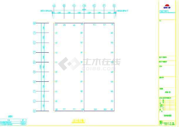 某地大型钢结构厂房CAD图(含设计说明)-图2