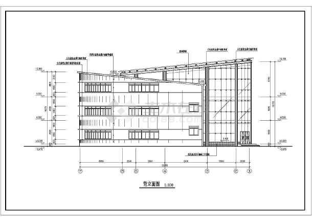 某地小型高级小区会所建筑cad设计图-图1