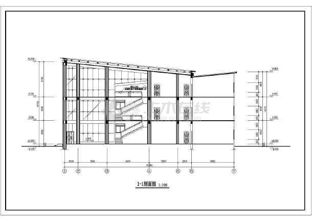某地小型高级小区会所建筑cad设计图-图2