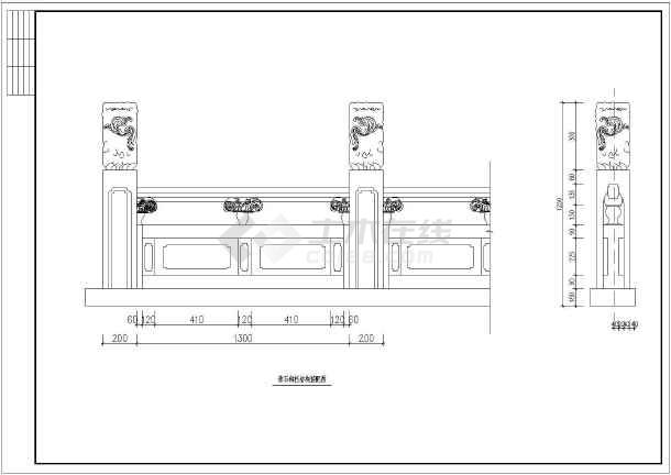 某工程景观古典石桥建筑园林CAD设计施工图-图2